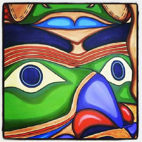 Northwest coast #Native #art is all about the eyes. #nativeamerican #kwakiutl #haida #firstnations