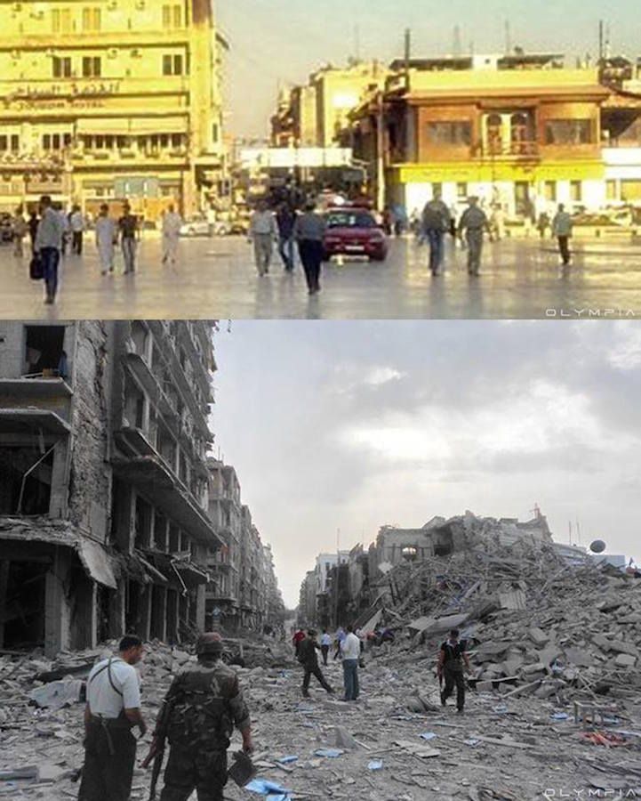 On July 19, 2012, the Syrian Civil War made Aleppo, the country's largest city, its battlefield. Barrel bombs dropped from helicopters, killing thousands o