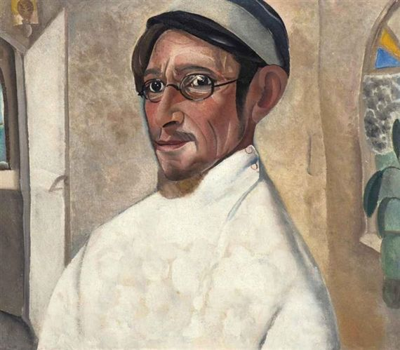 Boris Grigoriev - Portrait of the actor Nikolai...