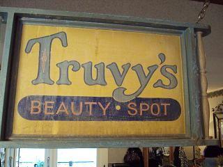 Truvy's Beauty Spot sign