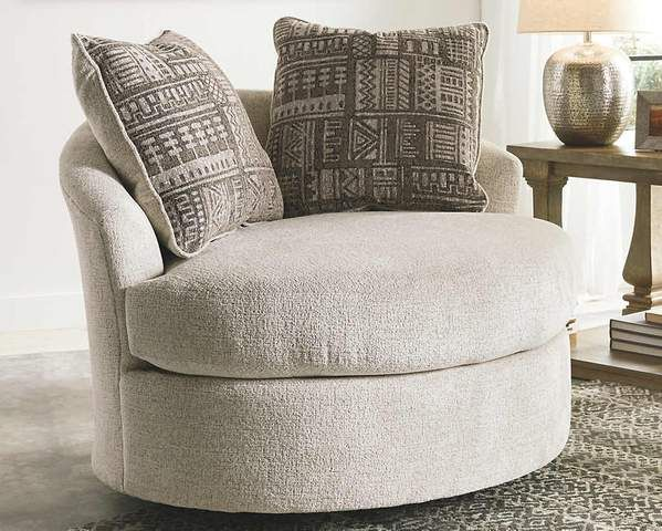 Soletren Swivel Accent Chair Accent Chairs Living Room