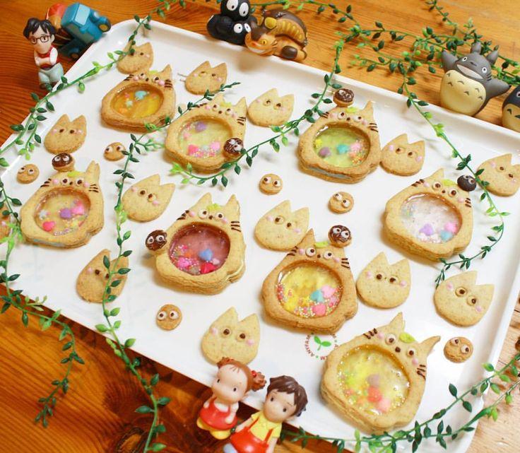 Miki FujimotoさんはInstagramを利用しています:「トトロの#シャカシャカクッキー 全体pic(*^^*) * こちらはコメントOFFにさせてもらいますね * * #手作りクッキー #型抜きクッキー #キャラクッキー #となりのトトロ #トトロクッキー #ステンドグラスクッキー #全粒粉入りクッキー #ママの手作り…」
