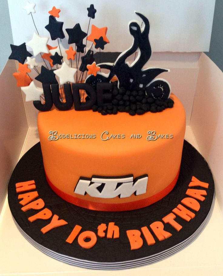 KTM Motocross Cake by Bodelicious Cakes and Bakes