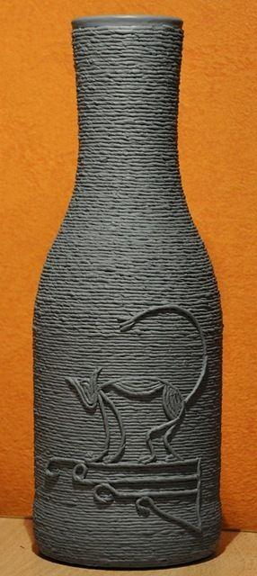 twine wrapped bottle