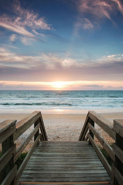 Let's take a walk down to the water. I love to feel the sand on my toes after the heat of the day has lost its intensity.