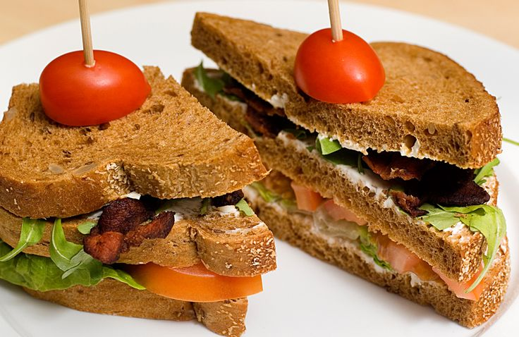 blt, bacon, tomat og smøreost