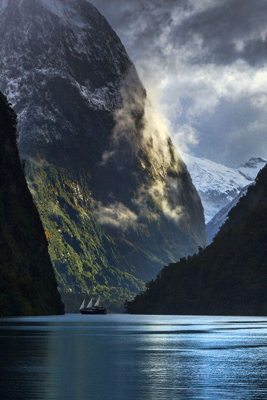 Doubtful Sound in New Zealand Fjordland