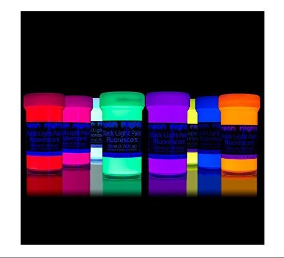 neon nights nachleuchtende Neon Farben Phosphoreszierende Wandfarbe Glow-Effekt