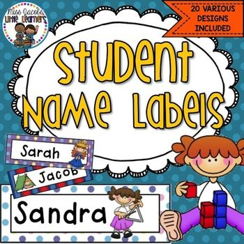 Name Labels: Editable:These student name tags are suitable for labelling students' desks or tubs as well as other belongings in the classroom.There are a combination of designs for girls and boys. Each student name label is individualised - perfect for beginner readers to recognise their names.These name tags are editable so you can change the font and size to suit your needs.You can find more BACK TO SCHOOL resources…