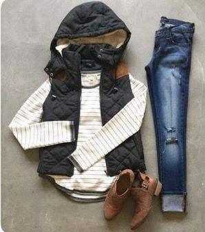STITCH FIX TRENDS! Try the best clothing subscription box ever! Resort wear, White shift dress, fashion and outfit Inspiration photos for stitch fix. Only $20! Sign up now! #StitchFix #Sponsored. hooded vest, booties, striped tee