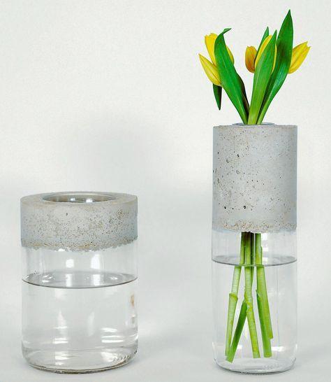 Die besten 25+ Vase Bastelei Ideen auf Pinterest selbstgemachte