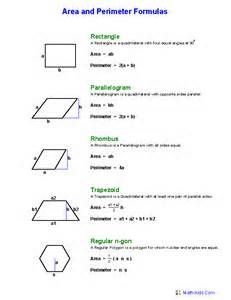Quick Link for All Area and Perimeter Worksheets