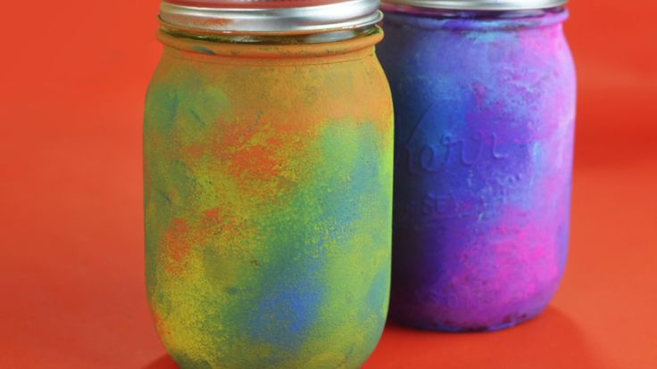 Painted Tie-Dye Mason Jars DIY | DIY Tie Dye Decorations | Tie Dye Party Ideas