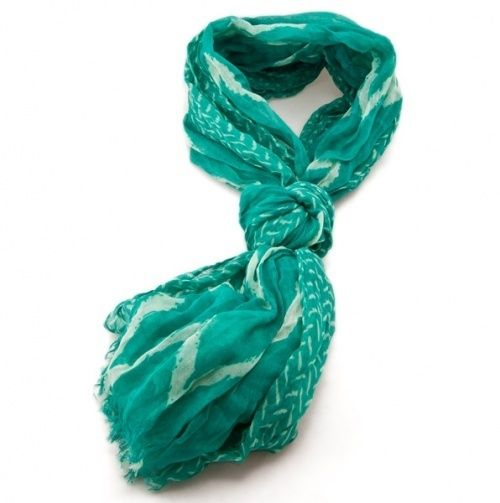 Teal scarf @ Styling in Style