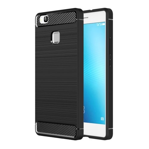 [$1.98] Huawei P9 Lite Brushed Texture Fiber TPU Rugged Armor Protective Case(Black)