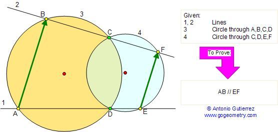 Math Geometry Problem 72. Cyclic Quadrilateral, Angles, Secant, Chord. Level: High School, College, Mathematics Education.