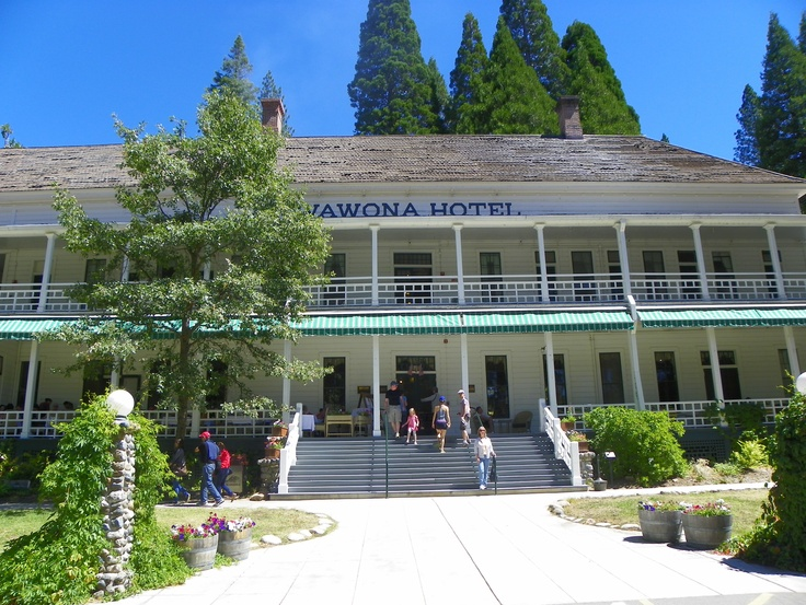 SIGHTS. Wawona Hotel. Imagine a white-bearded Mark Twain relaxing in a rocking chair on one of the broad verandas of the park's first lodge, a whitewashed series of two-story buildings from the Victorian era. Plop down in one of the dozens of white adirondack chairs on th