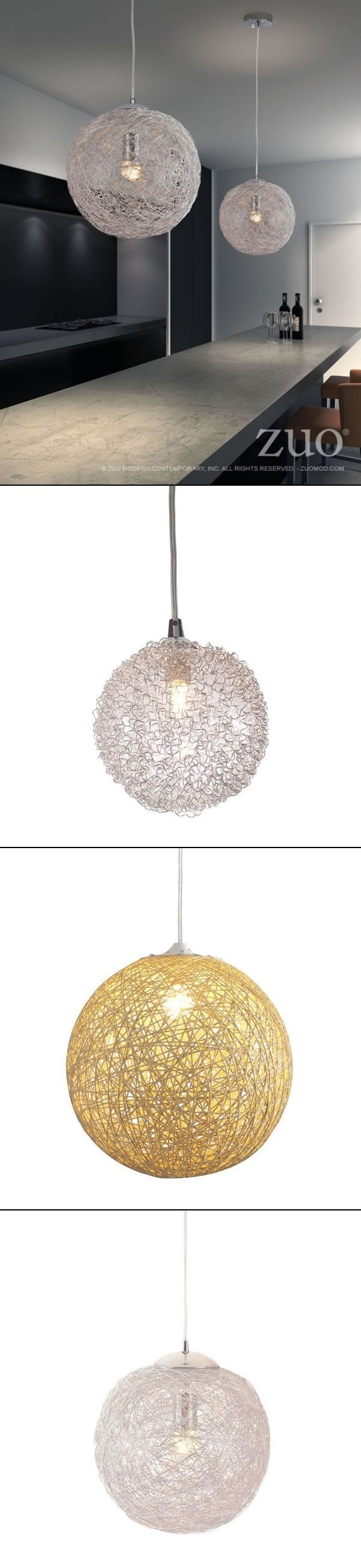 Great  for above the kitchen island, breakfast nook, bar area or any room..  All 3 of these options are priced under $100.00 currently! The Zuo Modern Cassius Ceiling Lamp, Opulence Ceiling Lamp and Continuity Ceiling Lamp.