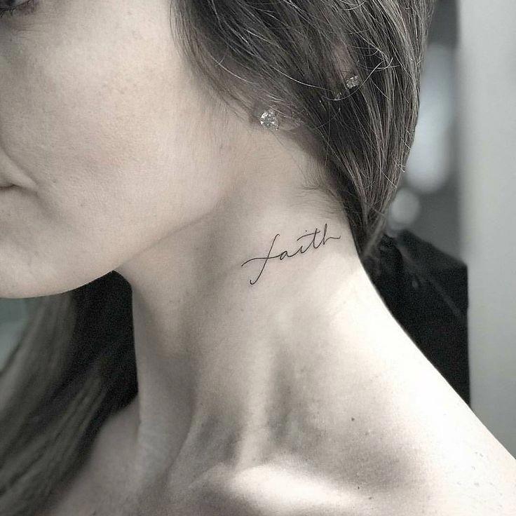 Mentattoo Side Neck Tattoo Small Neck Tattoos Neck Tattoos Women