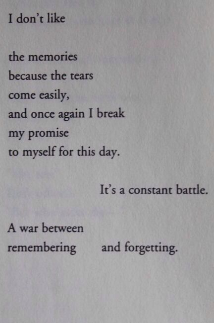 I'm losing the war that i promised myself i would help win. I let myself remember the pain that you put me through, and are still putting me through.