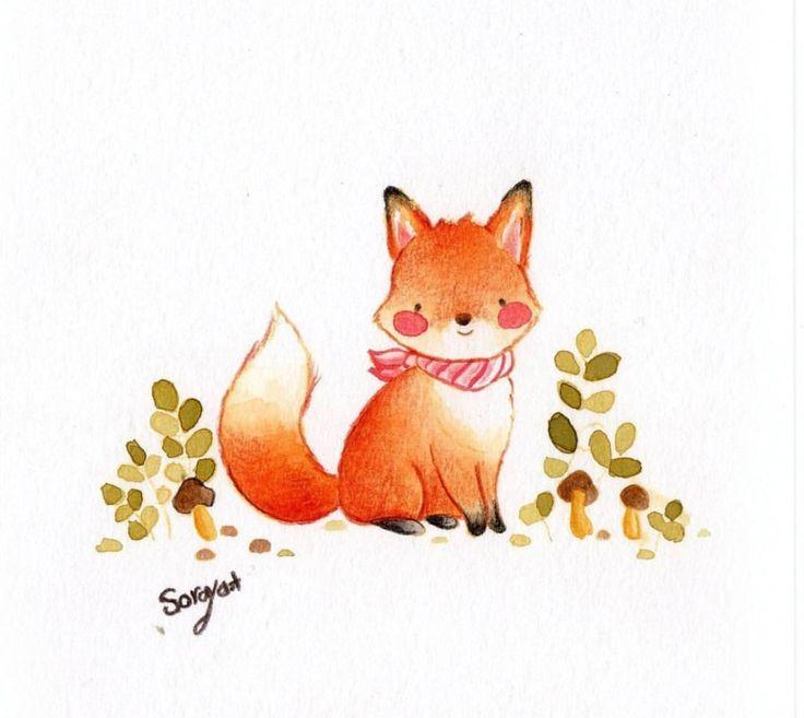 Лисички милые картинки нарисованные для детей