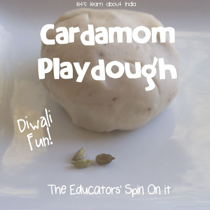 Create Cardamom Scented Playdough with Kids for sensory exploration and to learn about India