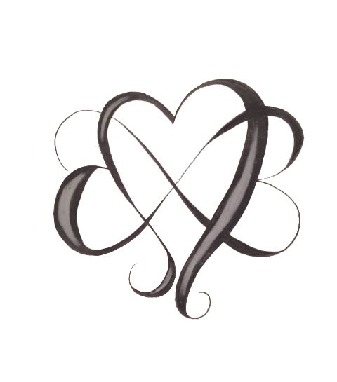 Infinity Heart Tattoo Designs