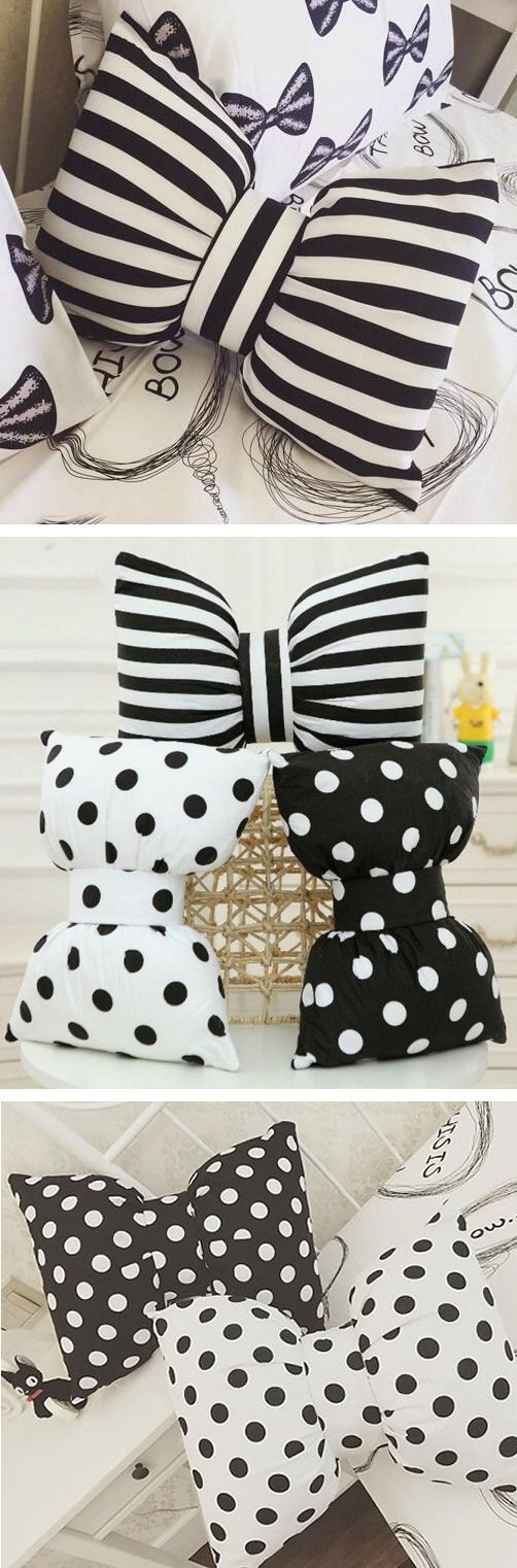 Bow Pillows - How Cute!