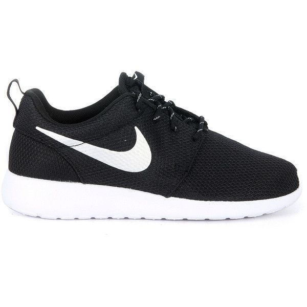 Nike Sneakers ($85) ❤ liked on Polyvore featuring shoes, sneakers, nero, nike footwear, nike, nike trainers, nike sneakers and nike shoes