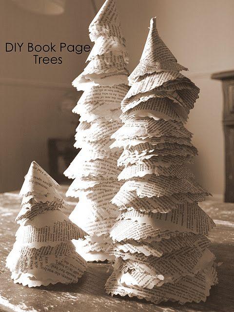 paper cone trees #christmas #tree #decor
