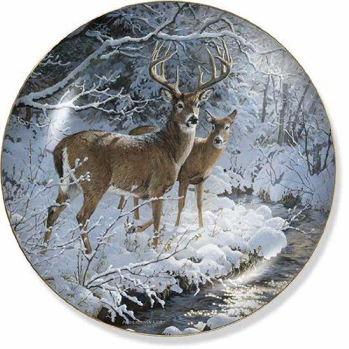 Amazon.com - Creekside Whitetail Deer by Persis Clayton Weirs 8.25 inch Decorative Collector Plate - Commemorative Plates