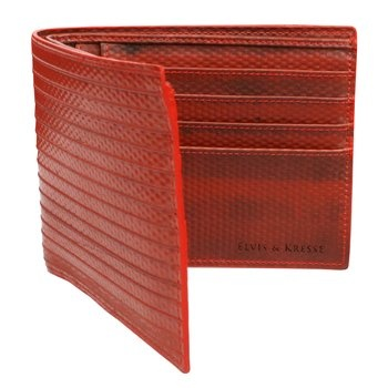 Fire Hose Wallet. These chic and durable wallets from Elvis & Kresse are made from reclaimed British fire hose. 50 percent of profits are donated to the Fire Fighters Charity. $118.00