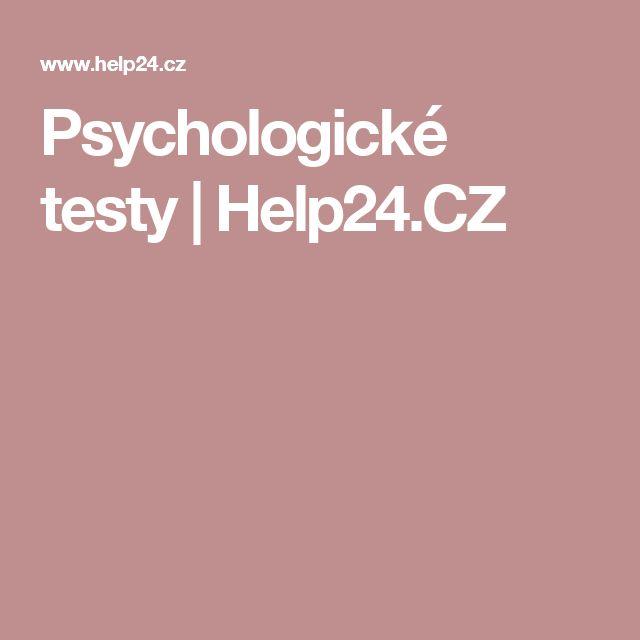Psychologické testy | Help24.CZ