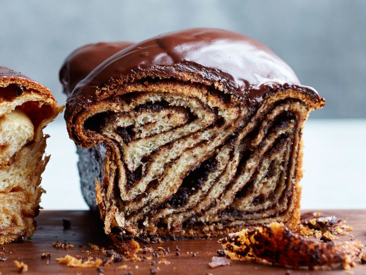 Chocolate Babka | This best-ever chocolate babka recipe from Melissa Weller at Sadelle's in New York City gets great flavor from chocolate cookie crumbs in the swirl and a swath of chocolate glaze.