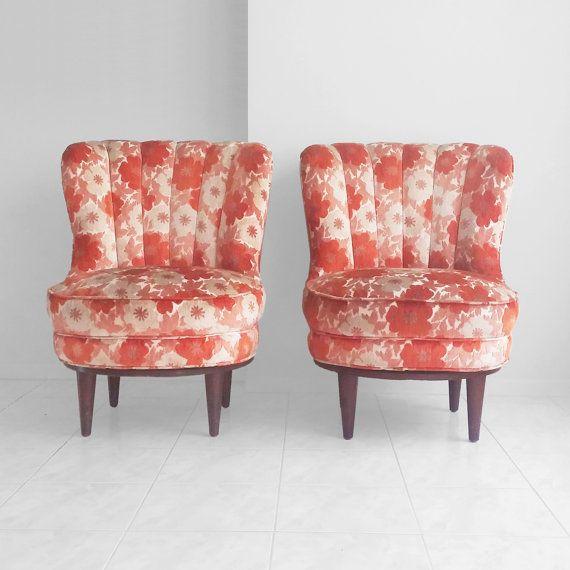 2 mid century modern channel back SWIVEL slipper by misovintage. 66 best Living Room images on Pinterest   Mid century  Slippers