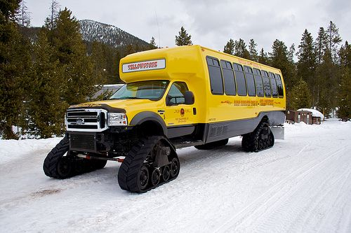 Yellowstone National Park Snowcoach — a modified Ford Super-Duty.