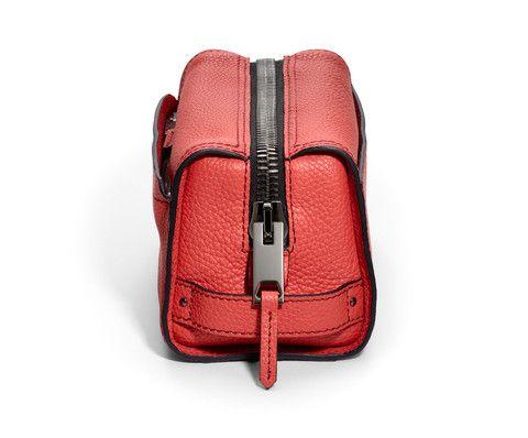GILBANO Leather Wash Bag - Mews - Fire Orange