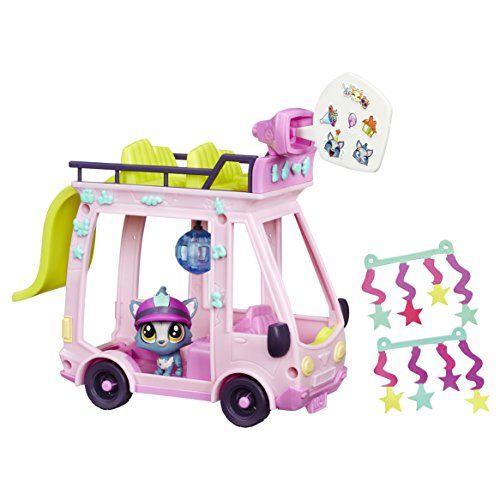 Littlest Petshop – B3806eu40 – Mini Bus: Un mini bus pour transporter 10 Petshop et inventer des histoires comme dans le dessin animé ! 1…