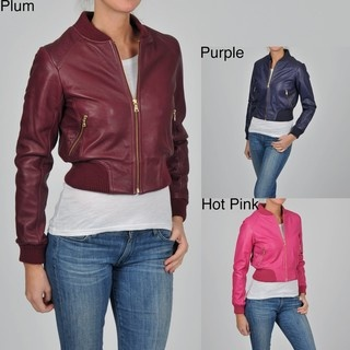 Knoles & Carter Women's Plus Size Perforated Bomber Jacket | Overstock.com- the purple one looks close to Rose Tyler's....costume possibilities?