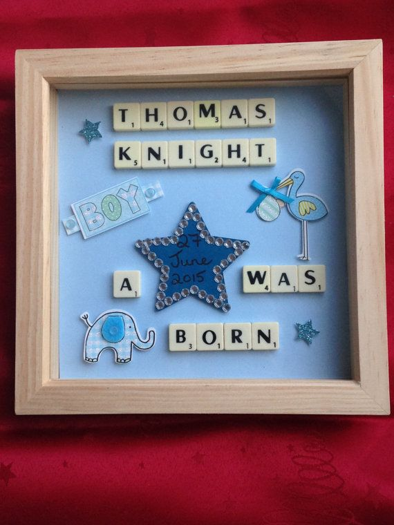 A Star is Born Baby Boy Scrabble Art by OurSweetArts on Etsy