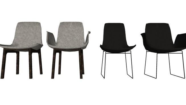 Poliform Ventura chairs - 3D Warehouse