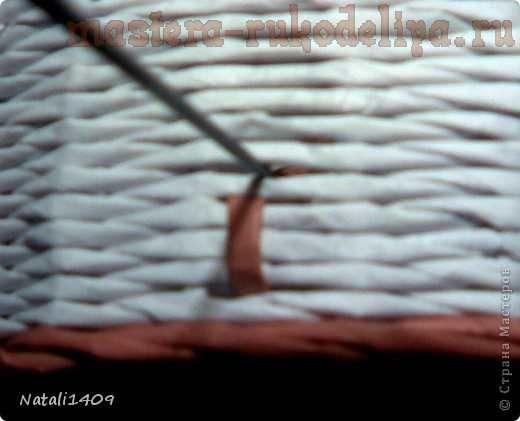 астер-класс по плетению из газет: Узор Шуровка