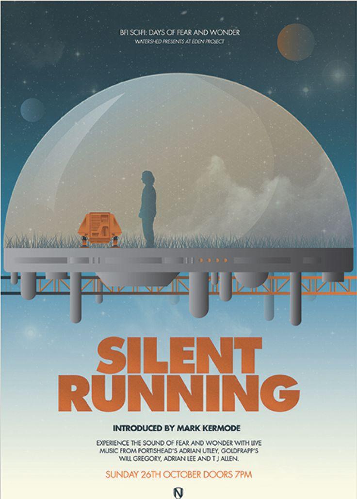 silent running 1972 minimal movie poster by matt