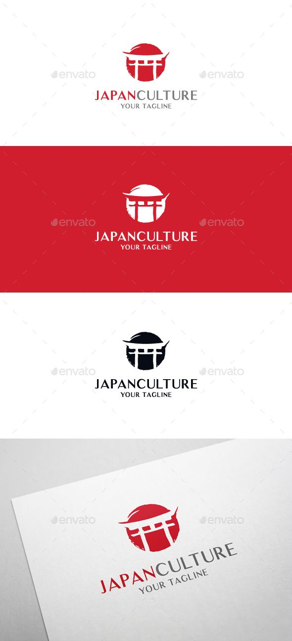 Epic Cool EPS Japan Culture Logo Template • Only available here ➝ http://graphicriver.net/item/japan-culture-logo/16294928?ref=pxcr