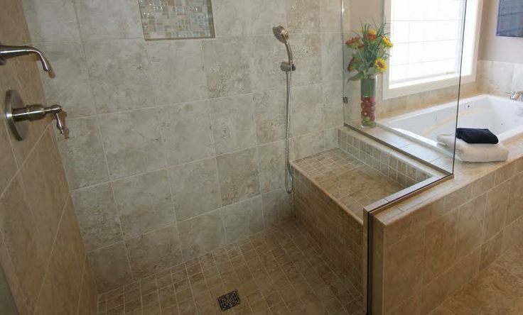 The shower after remodeling.