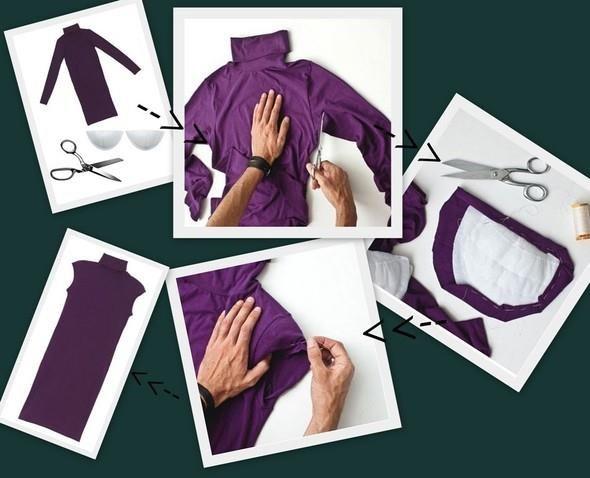 Как переделать из платье кофту