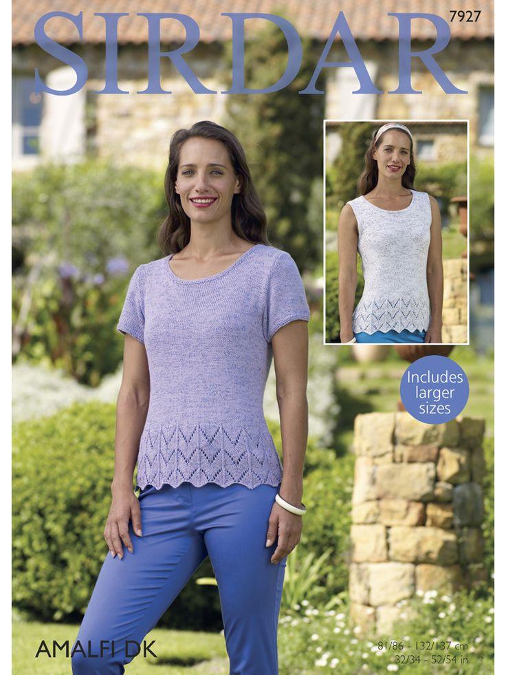 Sirdar 7927 Short Sleeve & Sleeveless Tops in Sirdar Amalfi DK (#3 Weight Yarn)