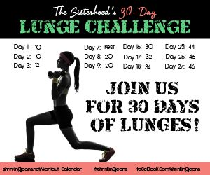 30-Day Lunge Challenge || Monthly Workout Calendar