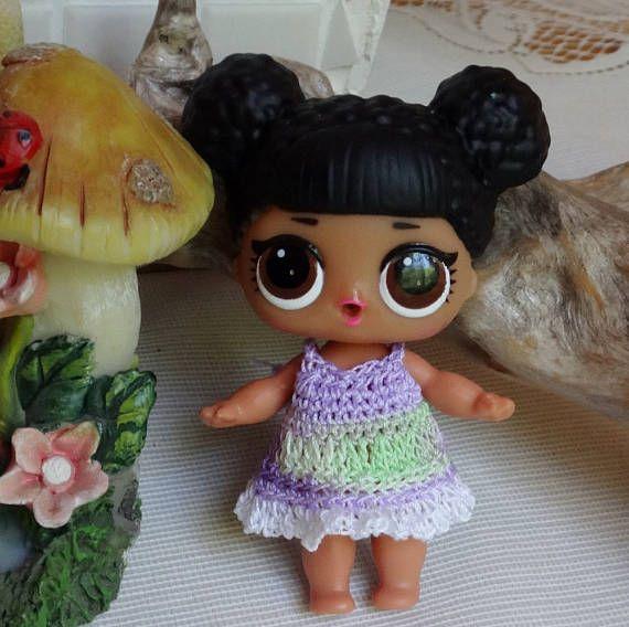 Crochet outfit 1 piece 3 inch LOL Little Lil Surprise Doll – Mercedes