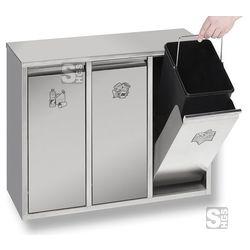 Recyclingstation -Cubo Jonas-  #Abfalltonne #Muellbehaelter #Muellbox #Abfallbehaelter #Abfallsysteme #Muellsysteme #Muelleimer #Papierkorb #Abfalleimer #Muellcontainer #Abfallkorb #Muelltonne #Recyclingbehaelter #Wertstoffbehaelter